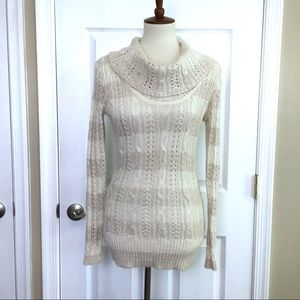 TOMMY HILFIGER Cowl Neck Alpaca Pullover Sweater